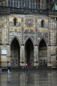 Prague Cathedral porch