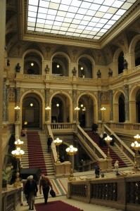 Staircase at National Museum (Prague)