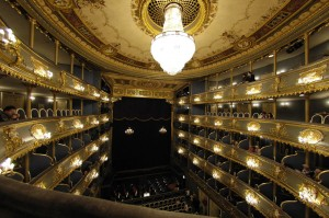 Interior of Estates Theater, Prague