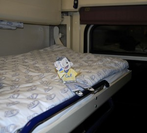 Flat Stanley on upper bunk