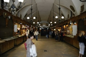 Interior of Cloth Hall in Krakow