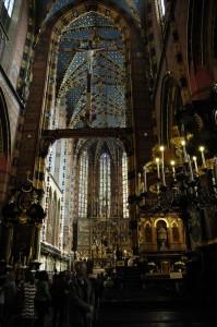 St. Mary\'s Basilica interior (Krakow)