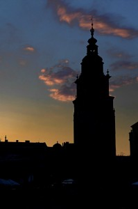 Town Hall at dusk (Krakow)