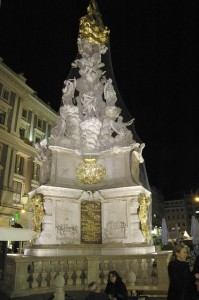 Plague column at night (Vienna)