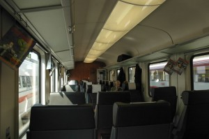 Inside of OBB first class car
