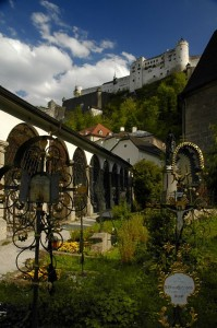 Hohensalzburg from graveyard