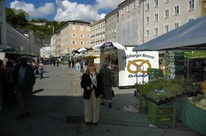Open air market in Salzburg