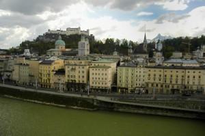 Hohensalzburg looming over Salzburg