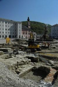 Salzburg archeological dig