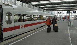 ICE train in Munich Hauptbahnhof