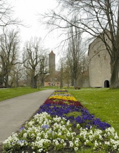 Rothenburg castle gardens
