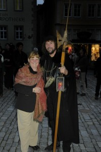 Linda and the Rothenburg Night Watchman