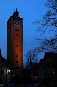 Burgturm in Rothenburg
