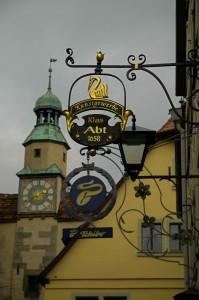 Shop sign in Rothenburg