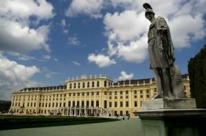 Schoenbrunn with Statue (Vienna)