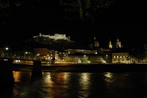 Hohensalzburg from Salzach right bank