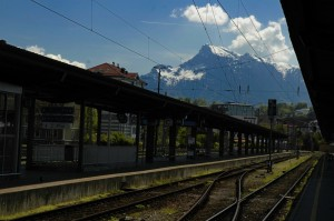 View from Salzburg train station