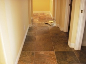 Backhall floor