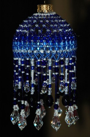 Blue Beaded Ornament